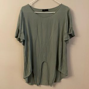 KLd clothing knot front top